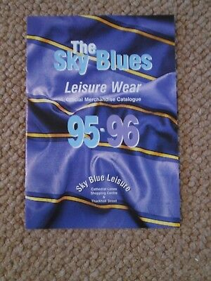 coventry city 1995-1996 Official Leisure Catalogue /bi