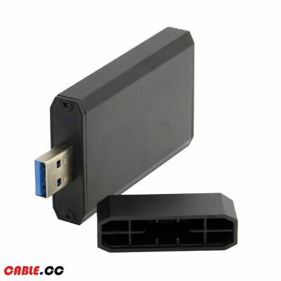 USB 3.0 to External Mini PCI-E mSATA SSD PCBA Conveter Adapter Card Enclosure