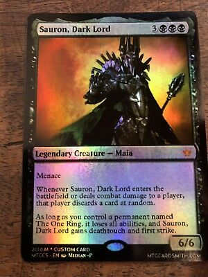 Sauron Dark Lord Magic The Gathering MTG Planeswalker Lord Of The Rings LOTR
