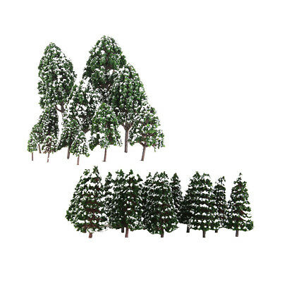 32Pcs HO OO N Scale Snow Tree Model Toy for Train Railroad Park Garden Scene