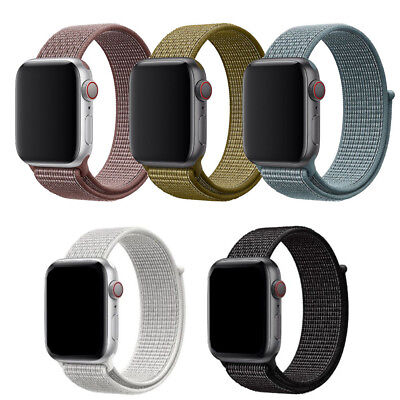Reflective Woven Nylon Loop Sport Watch Band For Apple Watch series 4 40mm 44mm
