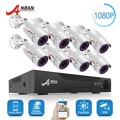ANRAN 8CH AHD CCTV Security Camera System 1080P HDMI DVR Outdoor IP Surveillance
