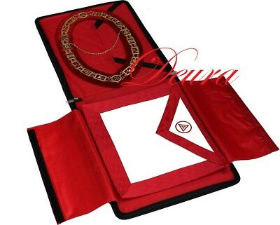 ROYAL ARCH MASONIC COLLAR // APRON // CASE Complete Package