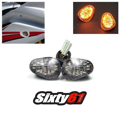 Yamaha R3 Flush Mount LED Turn Signal Lights 2015-2017 2018 2019 Block Off Smoke