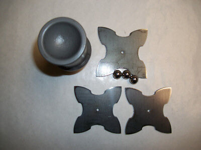 Blacksmith Small Jingle Bell Swage & 3 Forging Blanks (unfinished)
