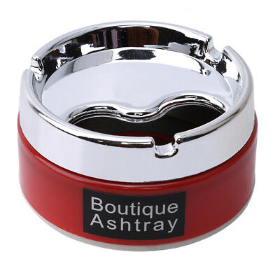 Silver Stainless Steel Rotary Lid Cigarette Smoking Ashtray 8C