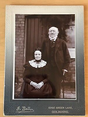 19th Century Carte de Visite CDV Cabinet Photograph Victorian Couple G Ball 7