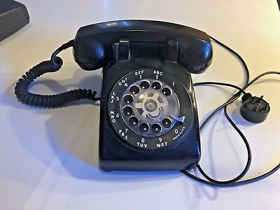 Vintage 1969 Black Western Electric Bell System 500 Rotary Desk Telephone Phone