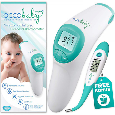 Clinical Forehead Baby Thermometer Flexible Tip Waterproof Digital Instant Read