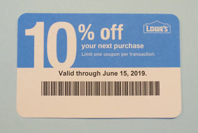 (1X) - Lowe's Competitor 10% Off for Home Depot - Valid through June 15, 2019