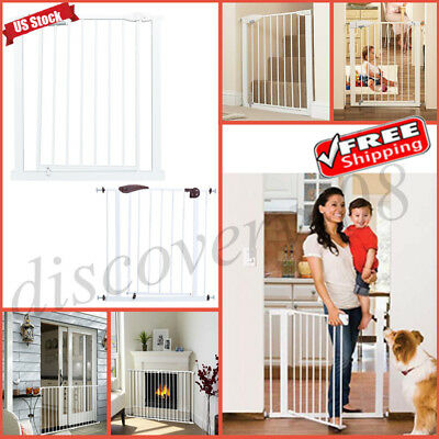 Indoor Pet Dog Cat Fence Playpen Portable Punch Gate Railing Baby Safety Barrier
