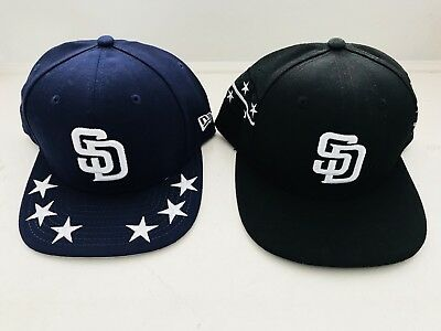 best website 36905 bb707 Lot Of 2 New Era 9fifty San Diego Padres SnapBack Baseball Hats Caps