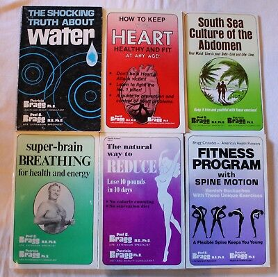 Lot Of 6 Paul C.  Bragg Health Science Books - Vintage, Vvgc