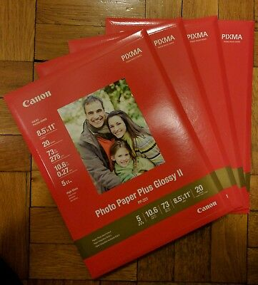 Canon Photo Paper Plus Glossy Ii 85 X 11 20 Sheets Pp 301