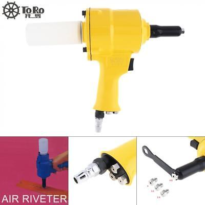 "Air Riveter Hydraulic Pop Rivet Pneumatic Riveting Gun 3/16"" 5/32 1/8 3/32"