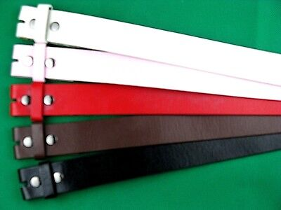 Belt 38mm Wide without buckle: White, Pink, Red, Brown, Black. DIY. Quick fit.
