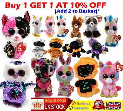 "35Style Ty Beanie Boos 6"" Stuffed Plush Kids Toy Animal Plush Doll XMAS Gift UK"
