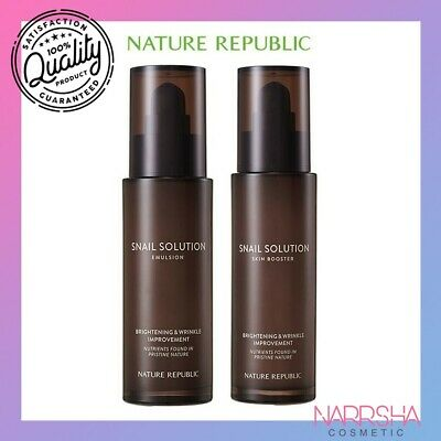 [NATURE REPUBLIC] Snail Solution Emulsion, Skin Booster, Essence - 120ml / 40ml