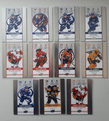 2018-2019 Upper Deck Tim Hortons  Game Day Action Ft. Connor McDavid $0.99 EACH