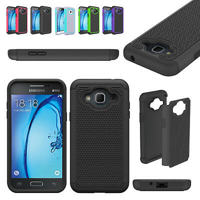 For Samsung Galaxy Sky J3 2016 /J320F Hybrid Shockproof Rugged Rubber Case Cover