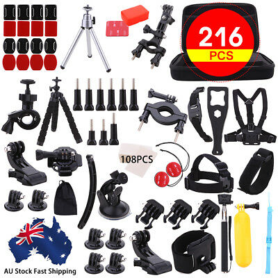 Accessories Pack Case Chest Head Bike Monopod Float Mount for GoPro Hero 5 4 3 2