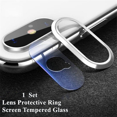 Back Camera Lens Cover Ring Screen Tempered Glass Protector For iPhone XS MAX XR