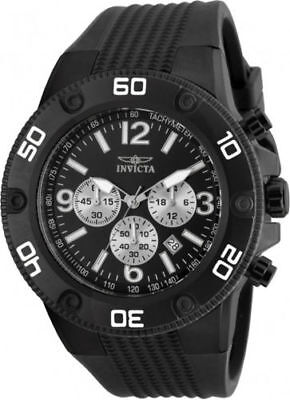 20274 Invicta Men's Pro Diver Chrono 100m Black Stainless Steel/Silicone Watch