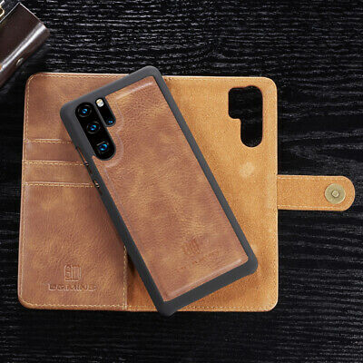 For Huawei P30 P20 Pro Lite Removable Genuine Leather Wallet Magnetic Case Cover