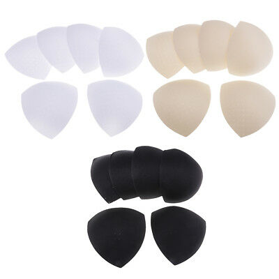 3 Pairs Thicken Foam Bra Pads Bra Inserts Removable Triangle for Women Bikini
