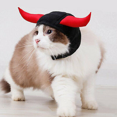 Pet hat dog cat hat costume cute horn for cat halloween dress up with ears_S