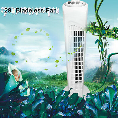 """29"""" Oscillating Electric Cooling Tower Fan Air White 3 Speed with Timer Pedastal"""