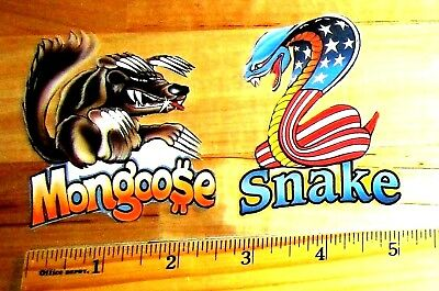 SALE! Hot Wheels Mongoose v Snake Caricature Stickers Don PRUDHOMME Tom MCEWEN