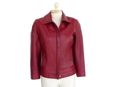 Veste Mac Douglas 36 S Blouson En Cuir Bordeaux Leather Burgundy Jacket 470€ 2a5092cb550