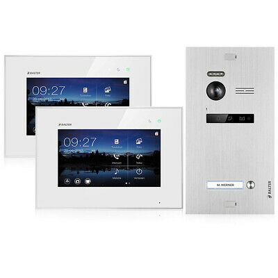 Video Türsprechanlage Balter Evo 2-Draht 1 Familienhaus 2 Monitore Touchscreen