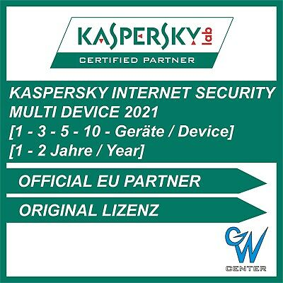 Kaspersky internet security Multi Device 2020 1PC 3PC 5PC 10PC Geräte 1 - 2 Jahr