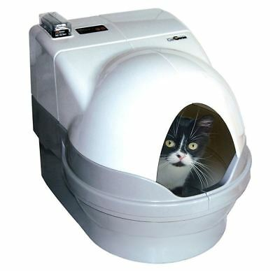 Cat Litter Trays-Self Cleaning Box With Cover Up Kitty Dome Privacy Screen Best