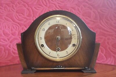 Vintage British 'Perivale' 8-Day Mantel Clock with Westminster Chimes