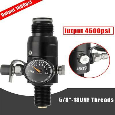5/8''-18UNF Thread Paintball Valve Regulator 4500psi HPA Air Tank Output 1800psi
