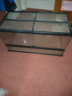Exo Terra Glass Terrarium Large Wide 90x45x45cm 25 90 Picclick Uk