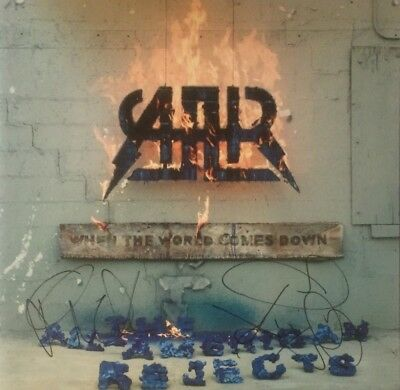 Autographed All American Rejects signed When the World Comes Down Vinyl LP