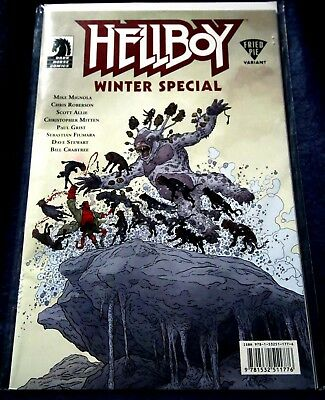 HELLBO: WINTER SPECIAL_2017_Fried Pie variant cover by Geoff Darrow_NM