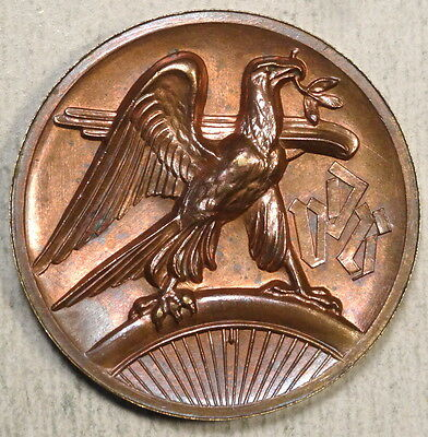 Bronze or Copper German Sports-Related Medallion, Early Weimar?, Eagle  -60