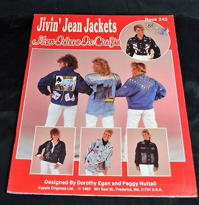 Jivin' Jean Jackets, Clothes Fashions, denim embellishments, quick & easy, 1989