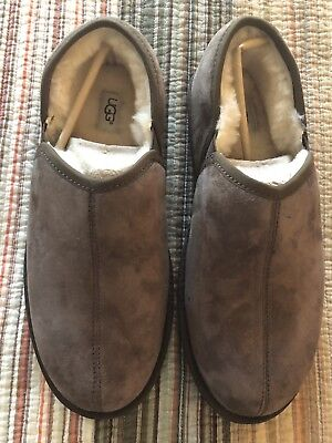 22d5f409d84 UGG FASCOT BOMBER Chestnut Suede Loafers Size 12 - $72.00 | PicClick