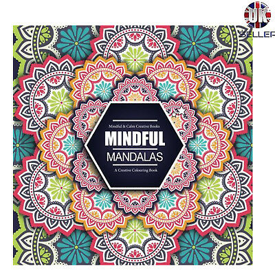 Adult Colouring Book Mandala Patterns 60 Pages Color Therapy Stress Relief Art