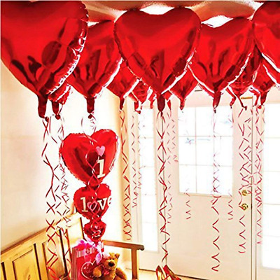 "18"" Foil Balloons LOVE Heart Shape for Birthday Wedding Party Decoration"