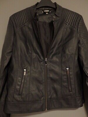 Ladies Leather Jackets, Italian Coat, FAUX Leather, Black, Biker Jackets, Girls