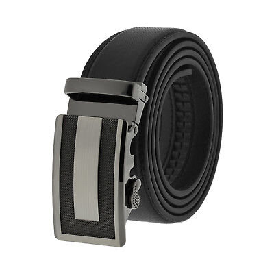 Luxury Men's Genuine Leather Automatic Belt and Buckle Removable Waist Strap