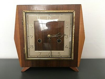 Vintage Smiths Art Deco Retro Mantle Clock (2)