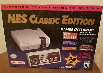 Nintendo Mini Nes Classic Edition Console Hdmi 30 Games New Mario